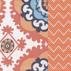 Medallion Duvet - Twin, Orange