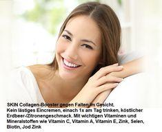 Kein lästiges Eincremen, einfach 1x am Tag trinken, köstlicher Erdbeer-/Zitronengeschmack. Mit den wichtigen Vitaminen und Mineralstoffen wie Vitamin C, Vitamin A, Vitamin E, Zink, Selen, Biotin, Jod