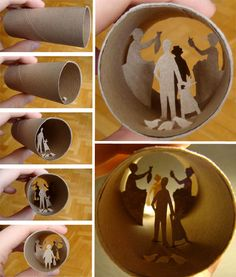 worlds inside toilet paper rolls by Anastassia Elias