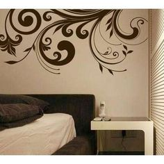 Retro flower Wall Art Home Decor Murals Vinyl Decals by popdecal