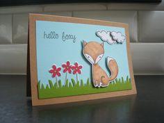 Fox Birthday Card Get Well Card Fox Thinking of by apaperaffaire, $3.50