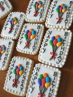 Pin By Libia Eslava On Galletas Decoradas Birthday Fancy Cookies, Iced Cookies, Cute Cookies, Cupcake Cookies, Cupcakes, Sugar Cookie Icing, Royal Icing Cookies, Sugar Cookies, Happy Birthday Cookie
