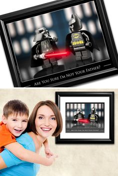 Fun, colorful, toy art, that makes you smile! Makes a great gift for friends or loved ones and is a must have for Star Wars fans, LEGO® fans… or both! Ships in 1-2 business days 5x7, 8x10 or 11x14 inc