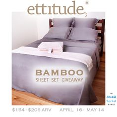 Ettitude Bamboo Sheet Set Giveaway | The Soulicious Life I Healthy Living - OPEN UNTIL 5/14/13 - enter today!