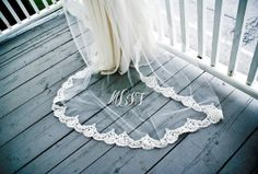 Monogramed wedding veil!