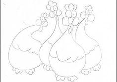 riscos de pintura em tecido galinha d'angola - Pesquisa Google