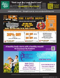September 2013 Sandpoint Deal It Local Magazine | Sandpoint, Idaho | www.sandpointliving.com