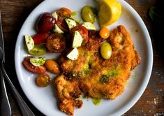 Chicken Milanese With Tomato, Mozzarella and Basil Salad Recipe - NYT Cooking Chicken Milanese, Veal Milanese, Pasta With Green Beans, Nytimes Recipes, Tomato Mozzarella Salad, Caprese Chicken, Chicken Seasoning, Salad Recipes, Healthy Recipes