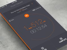 Dribbble - iOS7 running... by Stoyan Daskaloff