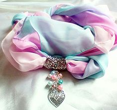 Beautiful pastel Ombre scarf pendant