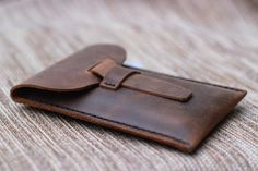 Items similar to Leather iPhone 5 Wallet Case -- Mobile Accessories - 022 on Etsy Iphone Leather Case, Iphone Wallet Case, Iphone 4, Diy Leather Projects, Leather Craft, Sewing Leather, Small Leather Bag, Leather Pouch, Brown Leather