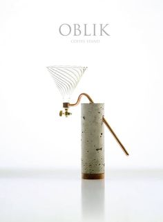 OBLIK coffee stand. This is BEAUTIFUL!