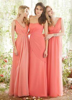 Tropical coral bridesmaids dresses. Beach wedding, Koh Samui ...
