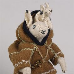 Inuit Arctic hare packing doll with baby