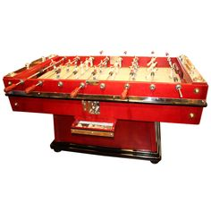 Spectacular Foosball Table | From a unique collection of antique and modern game tables at https://www.1stdibs.com/furniture/tables/game-tables/