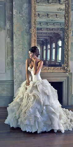 fashion feather bridal gowns 1                                                                                                                                                                                 More