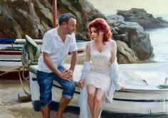"""Serious intentions"", oil on canvas, artist Vladimir Volegov"