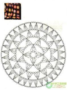 Afbeeldingsresultaat voor mandalas tejidas a crochet patrones Crochet Diy, Crochet Mandala Pattern, Crochet Circles, Crochet Stitches Patterns, Crochet Diagram, Crochet Round, Crochet Chart, Thread Crochet, Love Crochet