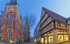 Rathaus und Degodehaus. Foto: Hans-Jürgen Zietz