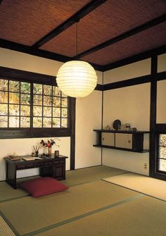 Japanese home. Mine could NEVER be this uncluttered.