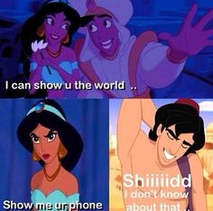 Aladdin doesn't wanna cough up his phone.. Scandalous mutherf^cker