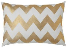 Gold Zabeel Chevron Pillow - eclectic - pillows - other metro - by Caitlin Wilson Textiles