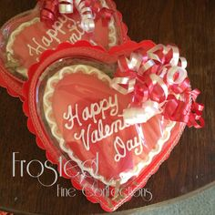 5 inch Heart shaped cookie in decorative box