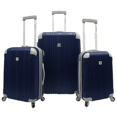 Beverly Hills Country Club Malibu 3pc Luggage Set // Navy