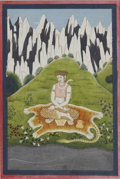 Shiva. Folio from a Ragamala series. Master of the first generation after Nainsukh and Manaku from Guler- Pahari region, around 1790.