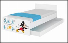 Disney children's bed Mickey II – Kiddymill Magical Room, Childrens Desk, Mattress Frame, Bed With Drawers, How To Make Bed, Toy Boxes, Kid Beds, Kids Bedroom, More Fun