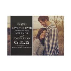 #wedding elegant Photo Save The Date Invites