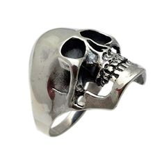 Sterling Silver Big and Heavy Skull Ring. Quality craftsmanship. Solid Sterling Silver .925. 100% Satisfaction Guarantee. All our products come with FREE gift box and 100% Satisfaction guarantee. FREE Shipping to all US, including all APO addresses, Alaska, Hawaii, and Territories. Worldwide shipping available to Europe, Asia, Canada, Australia and more.