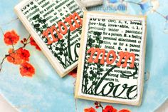 Haniela's: Mother's Day Cookies, Using Stamps on Frosting Sheets