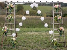 DIY Ladder Archway for Weddings