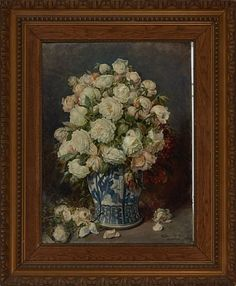 FERDINAND WAGNER TYSK 1847 - 1927  Blomsterstilleben Olje på lerret, 80x59 cm Signert nede til høyre: Ferdin. Wagner München Ferdinand, Painting, Art, Art Background, Painting Art, Kunst, Paintings, Performing Arts, Painted Canvas