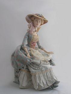 by Caterina Tarasova Half Dolls, Tiny Dolls, Blythe Dolls, Pretty Dolls, Beautiful Dolls, Historical Art, Dress Tutorials, Doll Maker, Stuffed Toys Patterns