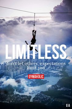 Don't let others' expectations limit you.