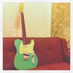 My very own '62 Reissue Tele in Surf Green. Nicely Instagrammed.