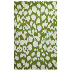 Kate Spade New York by Jaipur Gramercy Leopard Ikat Picnic Green Hand Tufted Wool Rug