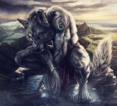 Werewolf Art by Madeline Wolfe Mythological Creatures, Fantasy Creatures, Mythical Creatures, Apocalypse, Fantasy Warrior, Fantasy Art, Arte Dope, Wolf Warriors, Werewolf Art
