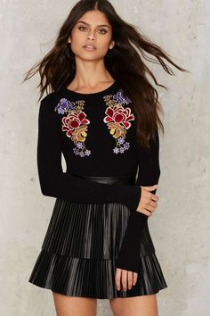 Glamorous All Things Grow Embroidered Sweater | Shop Clothes at Nasty Gal!