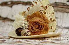 Boutique Mini Hop Hat Cream & Tan