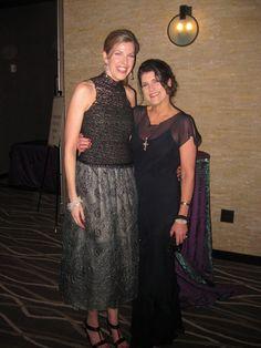 Designer Carol Peretz dresses on StyleBlueprint founders Liza Graves and Elizabeth Fox.