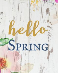 """Oh, Hello Spring"" Free Printable Spring Wall Art - A Hundred Affections"