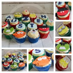 Favourite things cupcakes - Mickey Mouse, Spongebob, Pirates, George and Peppa Pig, Nemo, Hulk and Minions