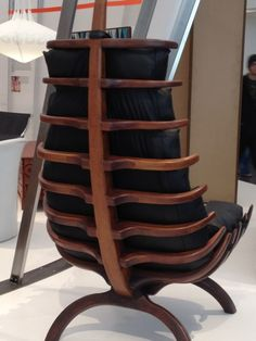 Furniture Design. Stunning spine on this chair.