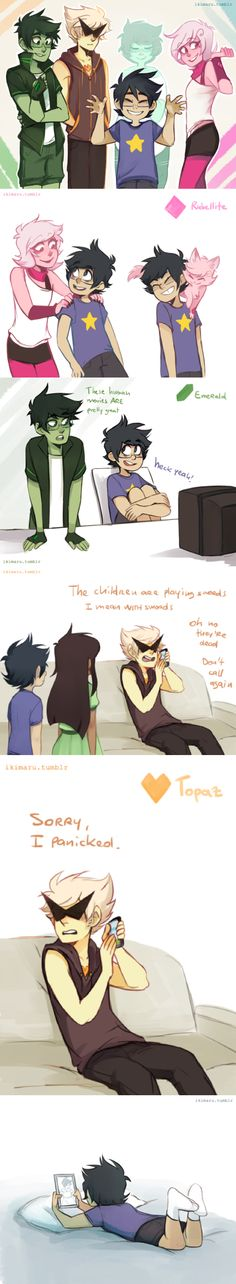 Homestuck/Steven Universe crossover by Ikimaru. This is so cool!