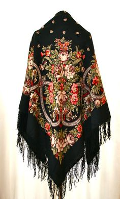 Vintage Russian Wool Floral Large Original by Blue8Blue8Sky, $110.00