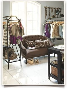 maybe when my kids go away to college, I  can turn one of their rooms into my dream closet...
