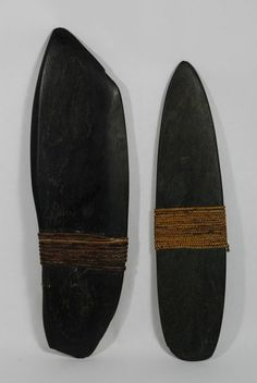 wrapped pebbles - Two Dani, New Guinea green wealth stones